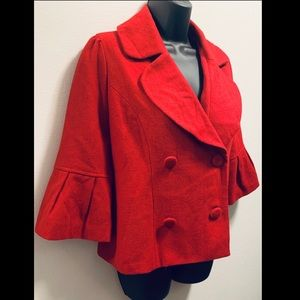 FOREVER21 **New w/tags** RED PEACOAT